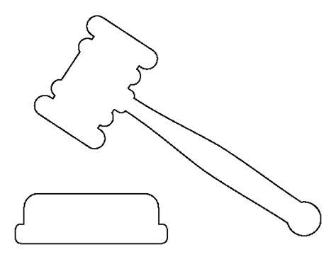 printable gavel template