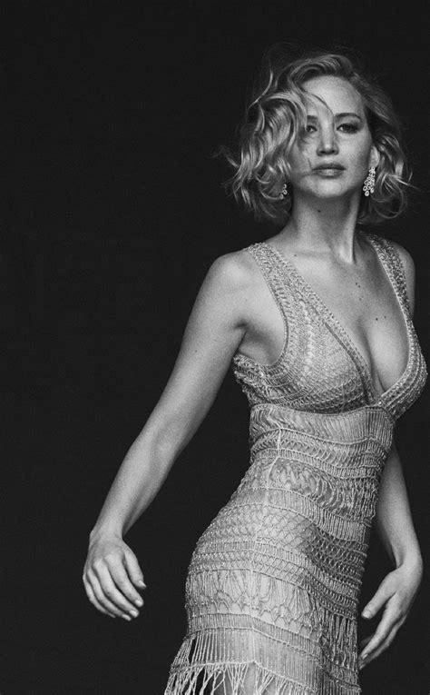 Jennifer Lawrence Black And White, Full HD 2K Wallpaper