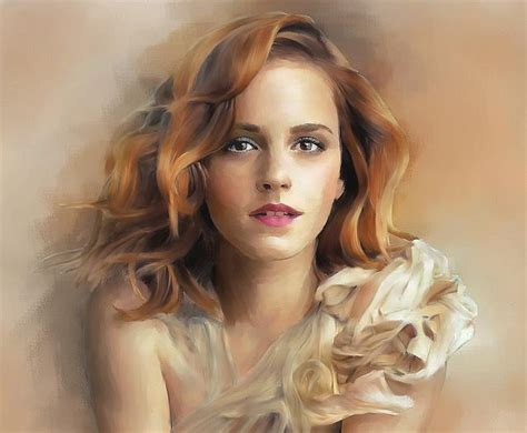Emma Watson Painting The Dare Art