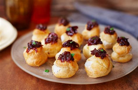 canape food ideas goat 39 s cheese choux buns tesco food