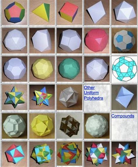 paper polyhedron model templates lofty goals