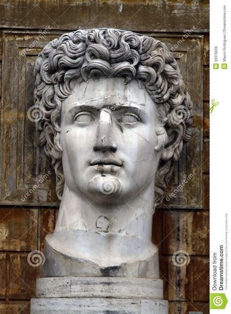 head statue  julius caesar royalty  stock images