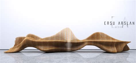Parametric Bench / Cnc Cut Bench Designed By Ersu Arslan