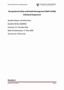 High School Memories Essay Health And Safety Assignment  Writing Essays In Exams An Essay On Science also Sample Essay Thesis Health And Safety Assignment Helping With Math Problems Health And  Essay Proposal Template