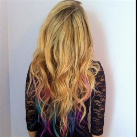 Leah Gwin On Best Peacock Colors Rainbow Hair And
