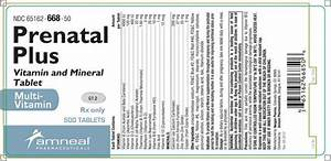 Prenatal Plus  Amneal Pharmaceuticals  Llc   Fda Package Insert
