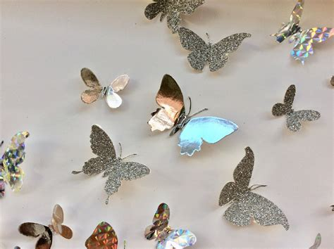 Shop for butterfly wall decor at bed bath & beyond. Butterflies Splash Silver Butterflies - Wall Art Decor ...
