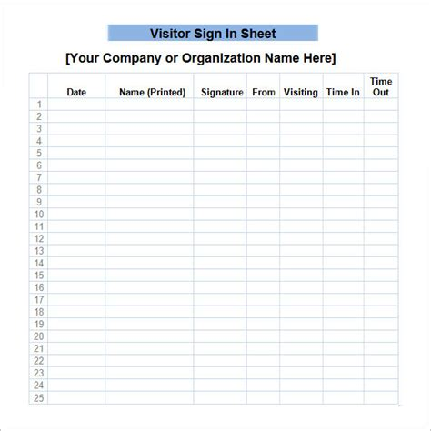 visitor sign in sheet template 34 sle sign in sheet templates pdf word apple pages sle templates