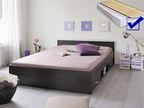 Jugendbett Bett 140x200 Kaffeefarben + Lattenrost