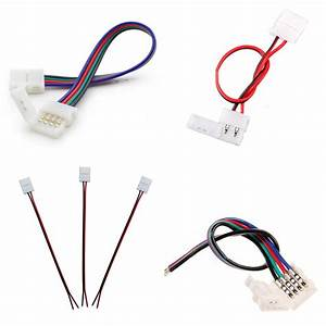Led Strip Light 2pin 4pin Rgb Cable Clip Connector Wire