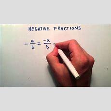 Negative Fractions , Intermediate Algebra , Lesson 5 Youtube