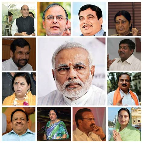 List Of Current Cabinet Ministers by Team Modi The New Cabinet Of Ministers Headed By Prime