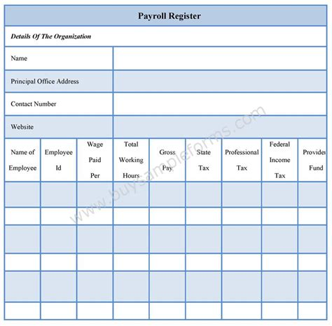 payroll ledger sample payroll register forms payroll register template
