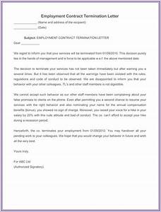 7 employment termination letter samples to write a With termination of employment contract template