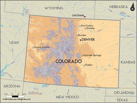 detailed clear large road map  colorado  colorado