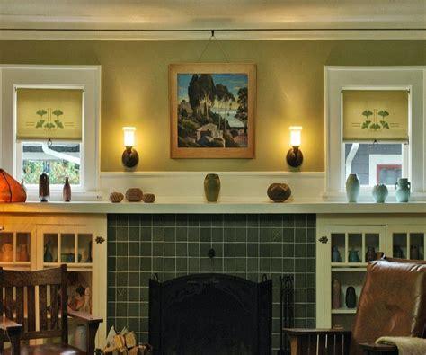 leaf stencil cotton cream craftsman pulls bungalow