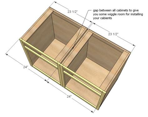 how to build cabinet carcass kitchen base cabinets 101 ana white woodworking projects