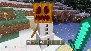 Minecraft Xbox 360: How to make a Snow Golem (Snowman ...