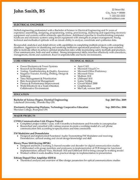 Resume Site by 8 Electrical Site Engineer Resume Defense
