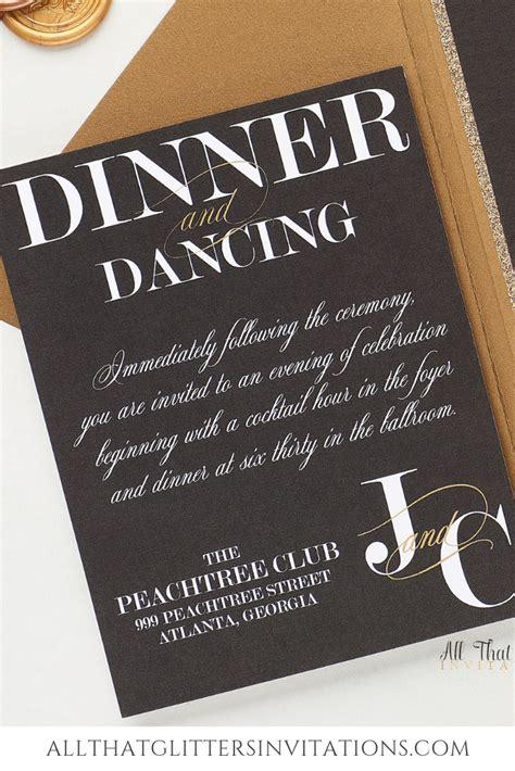 Black Wedding Invitation Jamillia in 2020 (With images