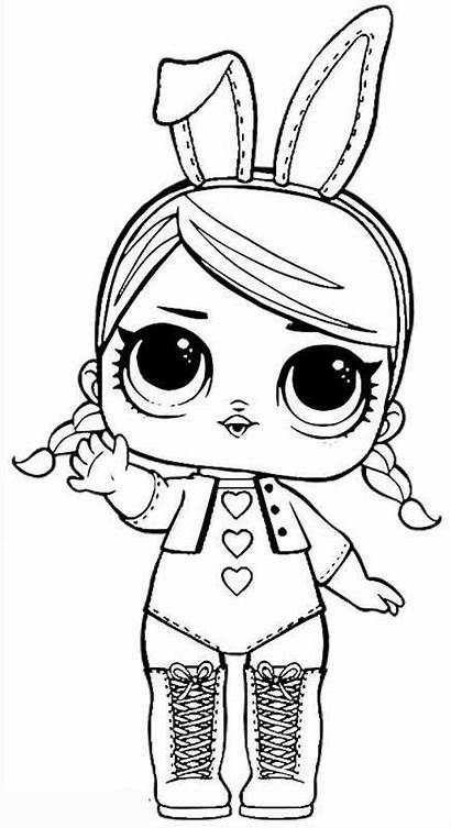 Lol Coloring Pages Dolls Doll Printable Colouring