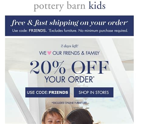 pottery barn free shipping code 30 pottery barn code 2017 all feb 2017 promo
