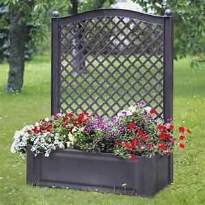 Jardinière Avec Treillage : treillage avec jardini re florana gris 55 prochains achats pinterest ~ Melissatoandfro.com Idées de Décoration