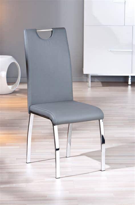 chaise pas cher grise chaise design de salle à manger coloris gris lot de 2