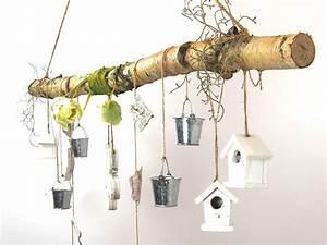 Deko Ast Holz : creatina ast aus birkenholz zum aufh ngen mit holzblume und deko 118 cm lang ~ Frokenaadalensverden.com Haus und Dekorationen