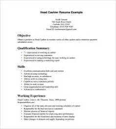 Free Cashier Resumes by Cashier Resume Template 16 Free Sles Exles Format Free Premium Templates