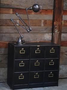 Casier Industriel Metal : meuble console morgan 9 grand casiers industriel clapet plateau metal ~ Teatrodelosmanantiales.com Idées de Décoration