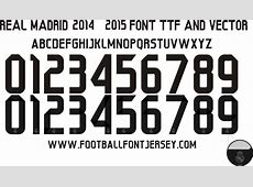 8 2014 2015 Real Madrid Numbers Font Images Real Madrid