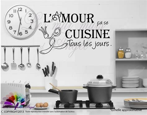 stickers de cuisine free stickers muraux dicton cuisine with stickers pour