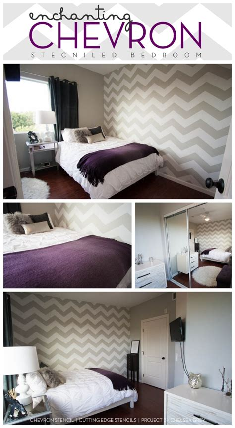 Bedroom Paint Ideas Chevron by 25 Best Ideas About Grey Chevron Walls On