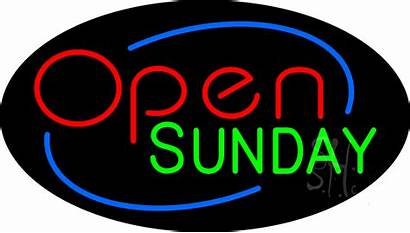 Sunday Open Neon Signs Every Animated