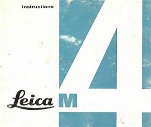 1960s Leica M4 Rangefinder Camera Owners Instruction