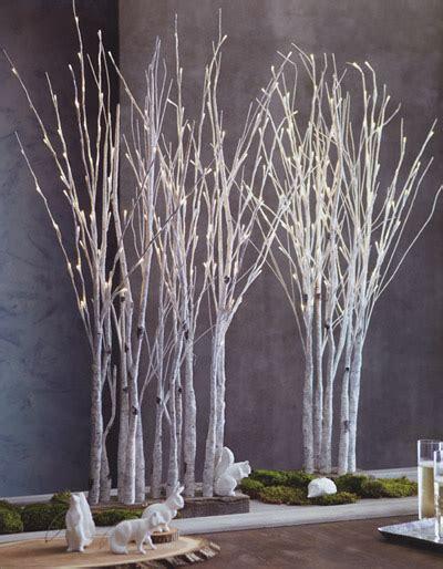lighted birch tree forest novacom
