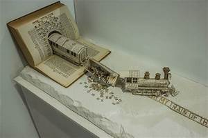 Book Sculpture Illustrates OCD With A Derailed Typography ...