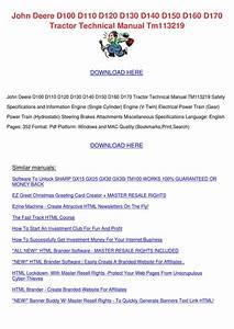 John Deere D140 Owners Manual Pdf