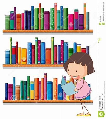 Bookshelves Reading Library Clipart Background Bookshelf Classroom
