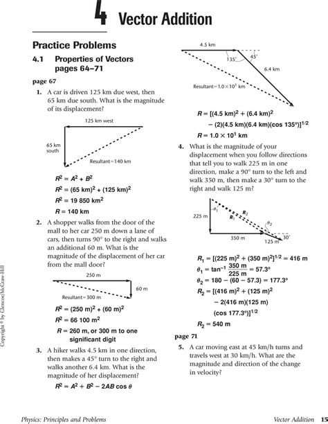 Math Skills Transparency Worksheet Answers Chapter 3 Section 3 2  Physics Transparency
