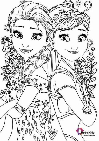 Frozen Coloring Pages Colouring Colour Cartoon Printable