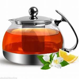 Teekanne 2 Liter : teekanne mit teesieb aus edelstahl glas 1 2 liter zum online shop ~ Markanthonyermac.com Haus und Dekorationen