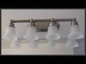 Bathroom Vanity Light Fixture Installation YouTube