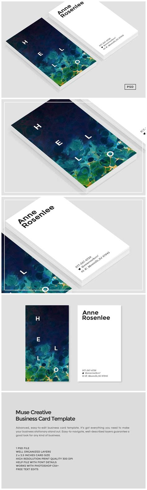 muse business card template business card templates creative market