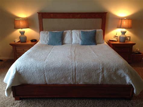 ana white king chestwick headboard  platform bed