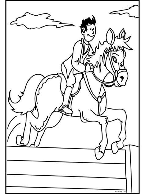 Paardrijden Kleurplaat by Kleurplaat Paardrijden Kleurplaten Nl