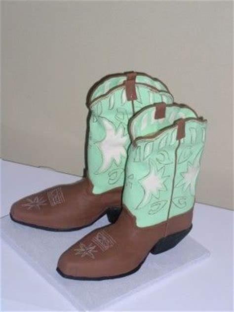 western fondant template fondant cowboy boot pattern