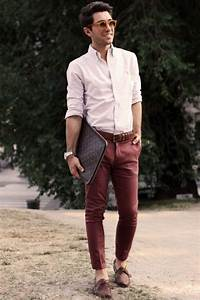Burgundy pants this looks works for the office too! #business #casual | Business Casual - Men ...