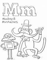 Coloring Mustache Pages Getcolorings Printable sketch template